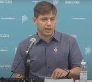 Axel Kicillof brindó una conferencia tras vacunarse