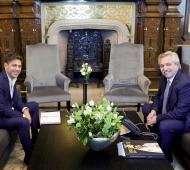 Ley impositiva 2020: El presidente se mostró con Kicillof en medio de las negociaciones