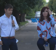 Axel Kicillof junto a Cristina Kirchner