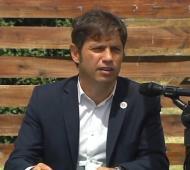 Axel Kicillof en conferencia de prensa