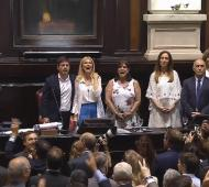 En la legislatura se cantó la marcha peronista