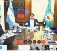 Kicillof hizo el anuncio junto a ministros provinciales y nacionales