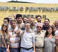La polémica foto en el Día de la Militancia en el penal de Marcos Paz.