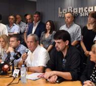 La bancaria realizó una conferencia de prensa