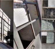 Destrozos y heridos en el predio judicial de San Justo.