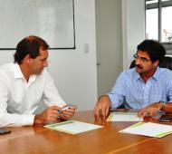 Garro con Sarquís anunciaron los beneficios para productores damnificados.
