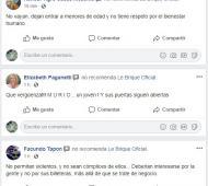 El boliche recibió muchos comentarios negativos