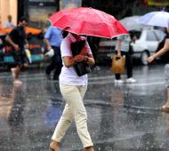 Jornada lluviosa en la provincia de Buenos Aires.