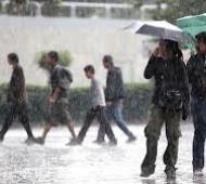 Se esperan fuertes lluvias y ráfagas de viento.