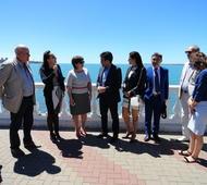 López visitó Rusia. Foto: Municipalidad de Necochea.