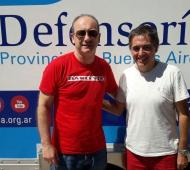 Lorenzino visitó una oficina móvil de la Defensoría en Monte Hermoso.