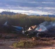 Los helicópteros pertenecían a la gobernación de La Rioja y a la de Santiago del Estero. Foto: Twitter