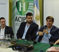 Lucas Delfino encabezó un encuentro con PyMEs junto al ministro Javier Tizado