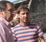 Lupiano junto al ex intendente Pablo Zubiaurre en 2017.