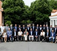 Macri y los 24 gobernadores en Olivos.