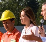 Macri y Vidal encabezaron el acto en Ituzaingó.