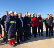 Macri y Vidal visitaron las obras en el puerto de Campana.