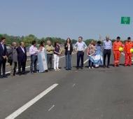Inauguración de obras en la Ruta 8. Foto: Prensa