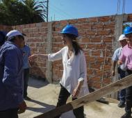Obra de viviendas de Madariaga. Foto: Comunicación PBA