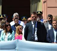 Peluso encabezó el acto en Magdalena. Foto: El Regional