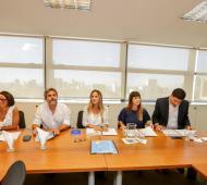 Malena Galmarini se reunió con legisladores del Frente de Todos