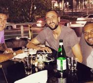 Los deportistas cenaron juntos.