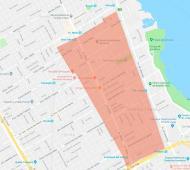 Mapa de zonas afectadas por cortes en Vicente López.