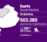 La cuarta sección está integrada por 19 municipios.