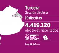 La tercera sección es la que reúne mayor cantidad de votantes.