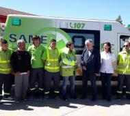 La ambulancia fue entregada al Hospital Anita Eliçagaray. Foto: Prensa