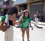Luján: Marcha frente a Fiscalía por una menor violada terminó con represión policial (Foto: El Civismo)