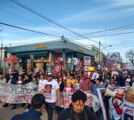 """A un mes de la """"Masacre de Monte"""", hubo una marcha y pedido de justicia"""