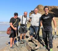 Mar Chiquita: Hallan material fósil de unos 24 mil años en el yacimiento paleontológico de Camet Norte