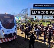 Regresó el servicio de tren a Marcos Paz tras 28 años: La estación se llamará Braian Toledo