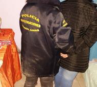 La mujer fue detenida por la policía. Foto: Prensa del Ministerio de Seguridad