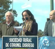 Lucía Merino brindó detalles sobre el estado del municipio de la sexta sección. Foto: Prensa