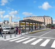 Así será el Metrobus de Mar del Plata en la zona de la costanera