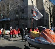 Protesta de guardavidas en Mar del Plata. Foto: Prensa