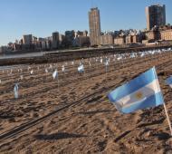 Mas de 500 banderas argentina como homenaje