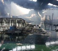 Incendio en planta de agroquímicos de Mercedes