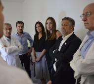 Vidal y Stanley visitaron nueva aparatología en el Hospital El Cruce de Florencio Varela