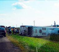 Identidad de los cinco muertos en el vuelco del micro Jetmar en ruta 3 altura Las Flores