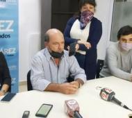 Moccero dio una conferencia de prensa