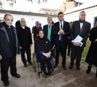 La vicepresidenta y los dirigentes de la oposición, este sábado en Tucumán.