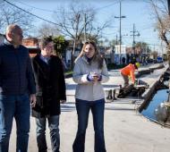 Gonzñalez y Molina recorrieron obras en Quilmes.