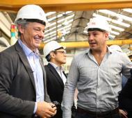 Molina y Cabrera se mostraron juntos en Quilmes.