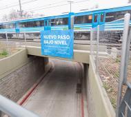 Tras inaugurar un bajo vías en Quilmes, Molina y Dietrich compartieron un viaje en tren