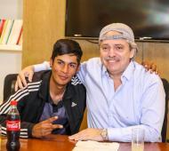 """Fernández con presidente de mesa que fue tratado de """"pibe chorro"""""""