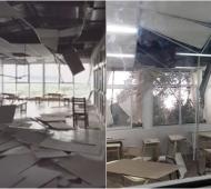 Temporal en Morón: Caída de techos en dos escuelas