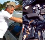 Notario fue detenido por transportar armas y municiones.